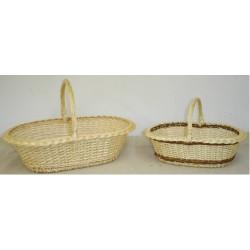 Panier layette éclisse osier blanc ou 2 tons 2 modèles