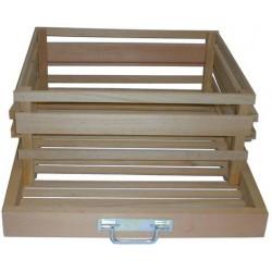 tiroir pour stocker 10 kg de pomme de terre avec distributeur la vannerie d 39 aujourd 39 hui. Black Bedroom Furniture Sets. Home Design Ideas