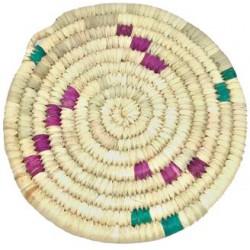La Vannerie d'Aujourd'hui - Dessous de plat rond en dattier coloré