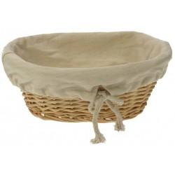 corbeille pain ovale osier blanc tissu la vannerie d 39 aujourd 39 hui. Black Bedroom Furniture Sets. Home Design Ideas