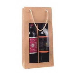 La Vannerie d'Aujourd'hui - Sac en carton pour 2 bouteilles