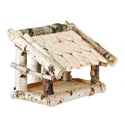 La Vannerie d'Aujourd'hui - Mangeoire à oiseaux toit tuiles de bouleau