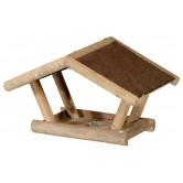Mangeoire en bois teinté toit singhe
