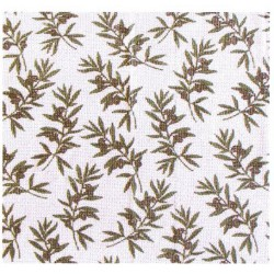 Rideau de porte en coton, motif rameau d'olivier.