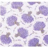 Rideau coton motif 'Lavande'