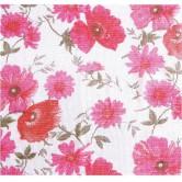 Rideau de porte en coton, motif fleurs.