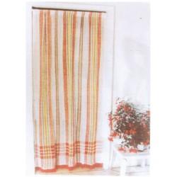 La Vannerie d'Aujourd'hui - Détail du rideau de porte en coton, motif Marseillais