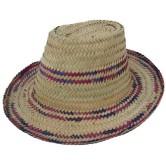 Chapeau en doum coloré
