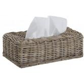 La Vannerie d'Aujourd'hui - Boîte à mouchoirs en rotin poelet gris