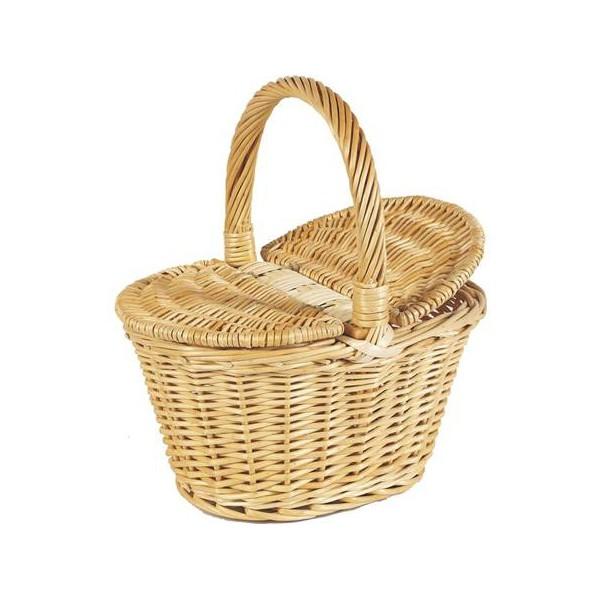 Panier couvercles enfant en osier naturel la vannerie d 39 aujourd 39 hui - Panier en osier avec couvercle ...