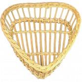 Corbeille à pain ajourée forme coeur en osier