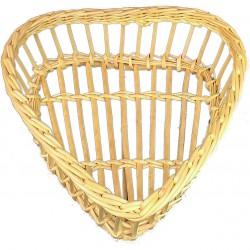 Corbeille à pain ajourée en forme de coeur en osier