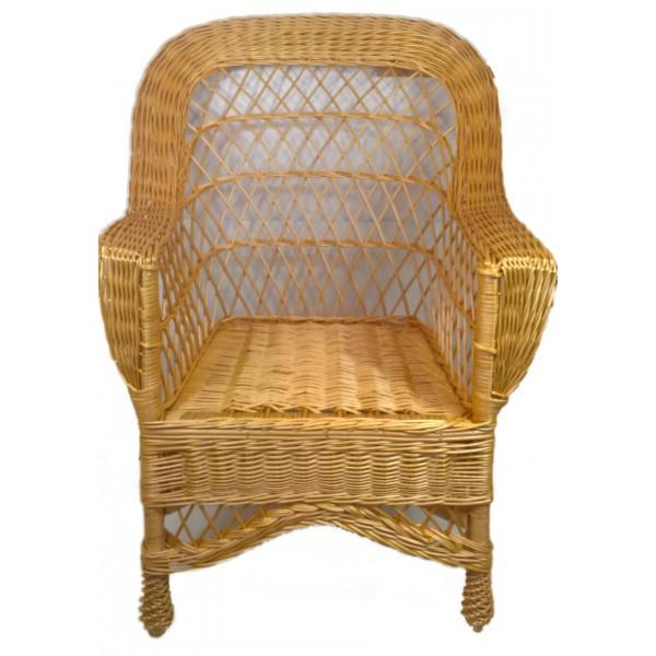 fauteuil d 39 adulte en osier blanc haut dossier la vannerie d 39 aujourd 39 hui. Black Bedroom Furniture Sets. Home Design Ideas
