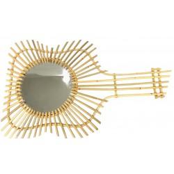 La vannerie d 39 aujourd 39 hui miroir design guitare en rotin naturel - Miroir en rotin ...
