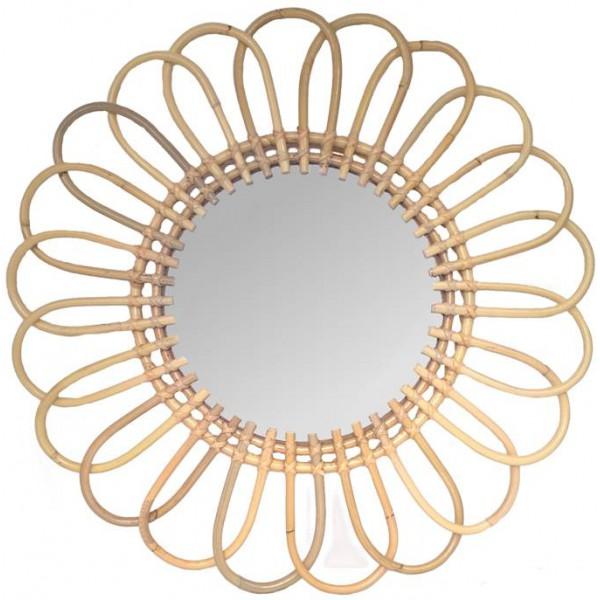 miroir en rotin marguerite la vannerie d 39 aujourd 39 hui. Black Bedroom Furniture Sets. Home Design Ideas