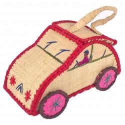 La Vannerie d'Aujourd'hui - Boîte à goûter en rabane, forme de voiture