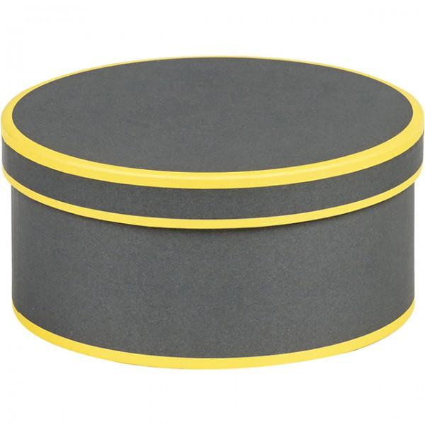 coffret rond gris et jaune. Black Bedroom Furniture Sets. Home Design Ideas