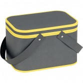 Coffret rectangle gris et jaune