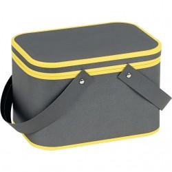 Coffret rectangle gris et jaune
