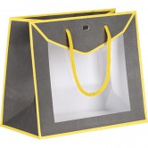 Sac en gris et jaune avec fenêtre PVC
