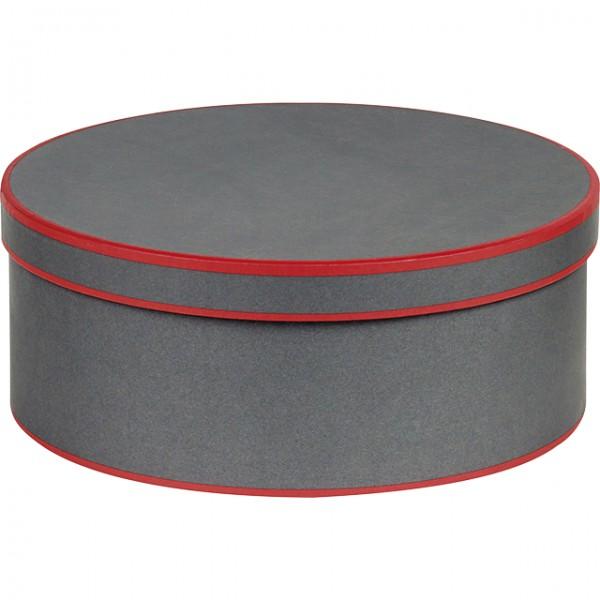 coffret rond gris et rouge. Black Bedroom Furniture Sets. Home Design Ideas