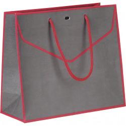 La Vannerie d'Aujourd'hui - Sac en papier gris et rouge