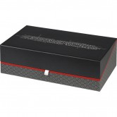"Coffret rectangle ""Savoureux"" gris/blanc/rouge"