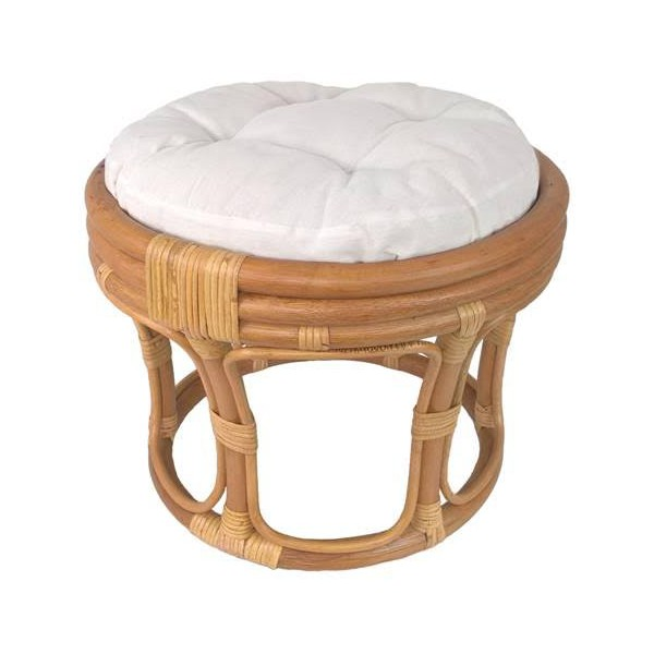 tabouret pouf en rotin naturel. Black Bedroom Furniture Sets. Home Design Ideas