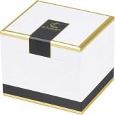 """Coffret carré """"Gourmet"""" noir/blanc/or"""