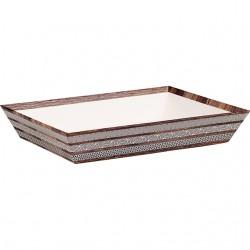 La Vannerie d'Aujourd'hui - Corbeille rectangle marron effet bois