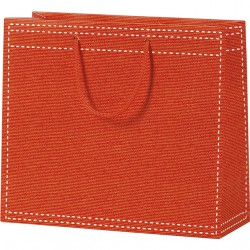 Sac en papier orange