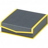 Coffret carré rangées gris/jaune