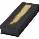 Coffret rectangle à 2 rangées noir/or