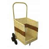 La VannerieLa Vannerie d'Aujourd'hui - Chariot à bois spécial escalier en osier 2 tons, 6 roues