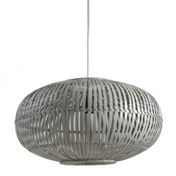 La Vannerie d'Aujourd'hui - Abat-jour design vintage bambou laqué gris