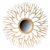 Miroir design en rotin Arbre