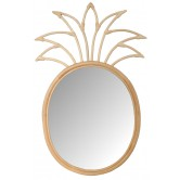 Miroir en rotin design Ananas