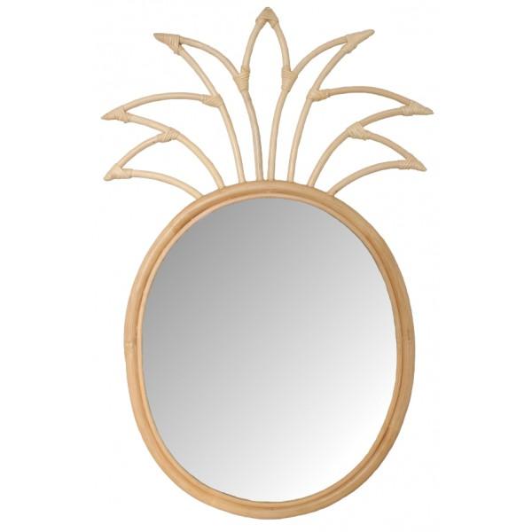 La vannerie d 39 aujourd 39 hui miroir en rotin au design ananas - Miroir en rotin ...
