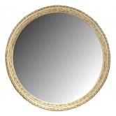 Miroir en rotin design vintage rond