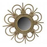 Miroir en rotin design fleur petit modèle