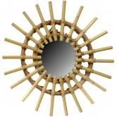 La Vannerie d'Aujourd'hui - Miroir en rotin design soleil petit modèle