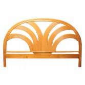 DESTOCKAGE !! Tête de lit en bois, coloris naturel, 140 cm, motif palmier