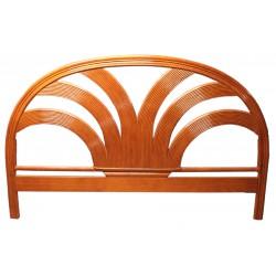 DESTOCKAGE !! Tête de lit en bois, coloris miel, 140 cm, motif palmier