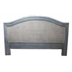 DESTOCKAGE !! Tête de lit en bois, coloris lavande, 140 cm, motif cannage