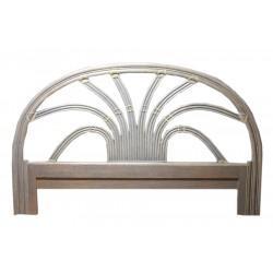 DESTOCKAGE !! Tête de lit en bois, coloris lavande, 140 cm, motif palmier
