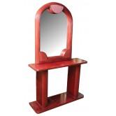 DESTOCKAGE !! Coiffeuse vintage bordeaux en bois et miroir