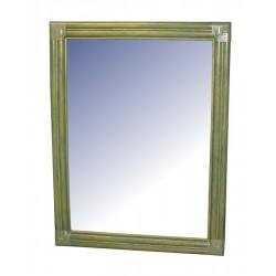 La Vannerie d'Aujourd'hui - DESTOCKAGE !! Miroir en bois vertical, coloris vert