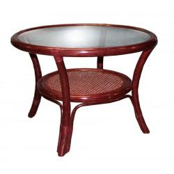 DESTOCKAGE !! Table basse en rotin de couleur bordeaux