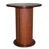 DESTOCKAGE !! Petite table en bois motif cannage