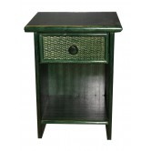 DESTOCKAGE !! Table de nuit en bois couleur verte